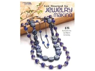 beading & jewelry making supplies: Leisure Arts Get Started In Jewelry Making Book