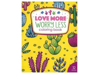 Leisure Arts Love More Worry Less Coloring Book