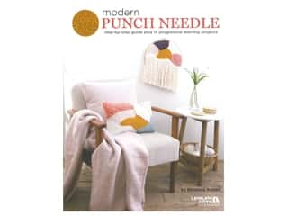 yarn & needlework: Leisure Arts Modern Punch Needle Book