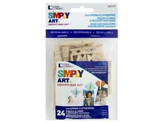 craft & hobbies: Loew Cornell Simpy Art Mini Spring Clothespins 24 pc.