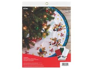 yarn & needlework: Bucilla Felt Tree Skirt Kit - Carousel Santa