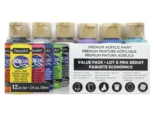 craft & hobbies: DecoArt Americana Acrylic Paint 12 pc. Value Pack