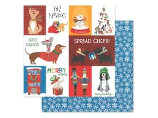 Photo Play Collection Muttcracker Paper 12 in. x 12 in. Feliz Navidog (25 pieces)