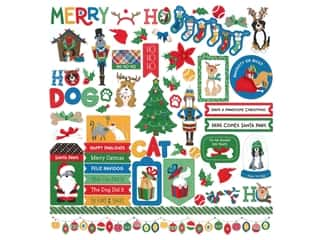 scrapbooking & paper crafts: Photo Play Collection Muttcracker Sticker Element 12 in. x 12 in. (12 pieces)