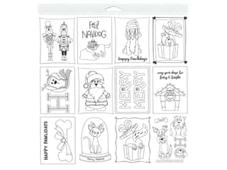 scrapbooking & paper crafts: Photo Play 12 x 12 in. Paper Muttcracker Color Me Sheet (25 pieces)