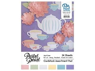 scrapbooking & paper crafts: Paper Accents 8 1/2 x 11 in. Cardstock Pad 24 pc. Pearlized Pastels