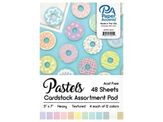 Paper Accents 5 x 7 in. Cardstock Pad 48 pc. Pastel