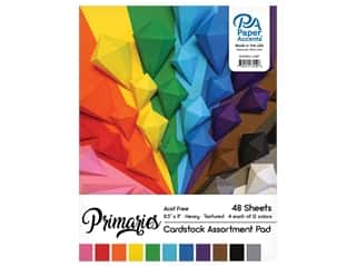 scrapbooking & paper crafts: Paper Accents 8 1/2 x 11 in. Cardstock Pad 48 pc. Primary