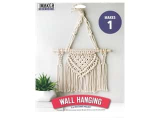 craft & hobbies: Leisure Arts Mini Maker Kit Macrame Wall Hanging