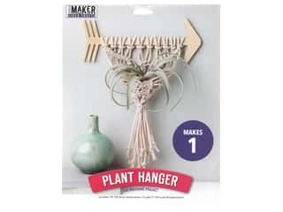 craft & hobbies: Leisure Arts Mini Maker Macrame Arrow Plant Hanger Kit