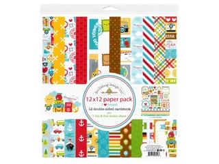 scrapbooking & paper crafts: Doodlebug Collection I Heart Travel Paper Pack 12 in. x 12 in.