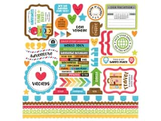 Doodlebug Collection I Heart Travel Sticker This & That (12 sets)