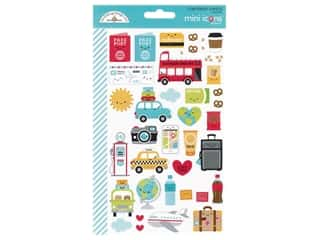 Doodlebug Mini Icons Stickers - I Heart Travel