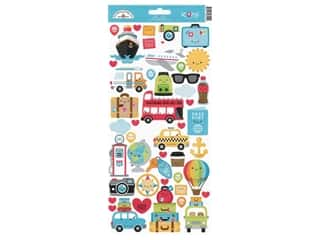 Doodlebug Icons Stickers - I Heart Travel