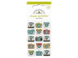 Doodlebug Collection I Heart Travel Sprinkles Shape Picture Perfect