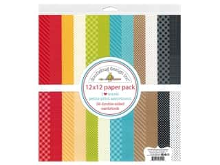 Doodlebug Collection I Heart Travel Paper Pack 12 in. x 12 in. Petite Print