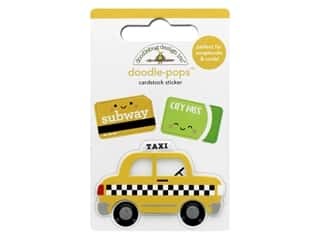 Doodlebug Collection I Heart Travel Doodle Pops Taxi!