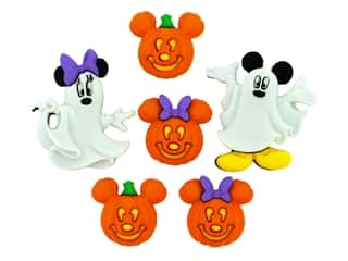 craft & hobbies: Jesse James Dress It Up Embellishments Disney Mickey & Minnie Ghosts