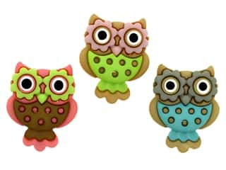 novelties: Jesse James Embellishments - Retro Owls