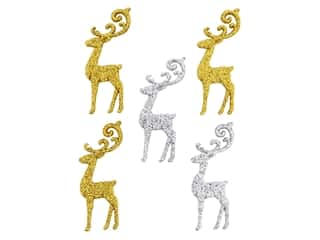 craft & hobbies: Jesse James Dress It Up Embellishments Christmas Elegant Reindeer