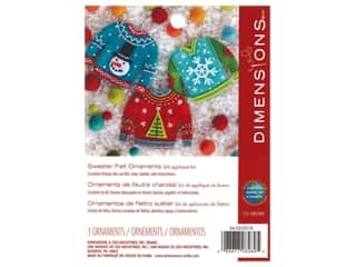 projects & kits: Dimensions Applique Kit Felt Sweater Ornaments