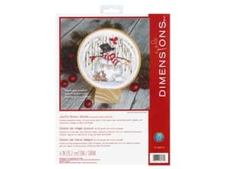 Dimensions Counted Cross Stitch Kit 6 in. Joyful Snow Globe