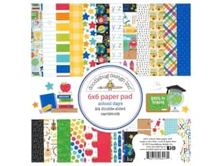 scrapbooking & paper crafts: Doodlebug Collection School Days Paper Pad 6 in. x 6 in.
