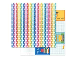 "scrapbooking & paper crafts: Doodlebug Collection School Days Paper 12""x 12"" Color Me Happy (25 pieces)"