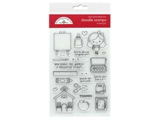 stamp cleared: Doodlebug Collection School Days Doodle Stamps School Girl