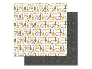 Doodlebug Collection School Days Paper 12 in. x 12 in. Band Class (25 pieces)