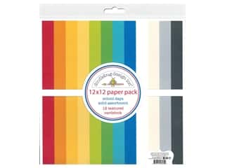 scrapbooking & paper crafts: Doodlebug Collection School Days Paper Pack 12 in. x 12 in. Textured