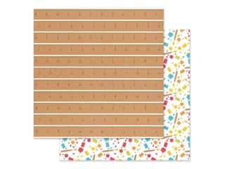 Doodlebug Collection School Days Paper 12 in. x 12 in. Good Measure (25 pieces)