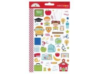scrapbooking & paper crafts: Doodlebug Collection School Days Sticker Mini Icons (12 sets)