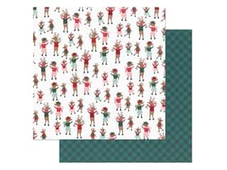 Pebbles Collection Merry Little Christmas Paper 12 in. x 12 in. Dancing Reindeer (25 pieces)