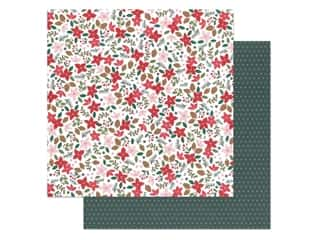 scrapbooking & paper crafts: Pebbles Collection Merry Little Christmas Paper 12 in. x 12 in. Deck The Halls (25 pieces)