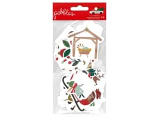 Pebbles Collection Merry Little Christmas Ephemera Icon Foil Gold