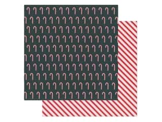 Pebbles Collection Merry Little Christmas Paper 12 in. x 12 in. Candy Cane (25 pieces)