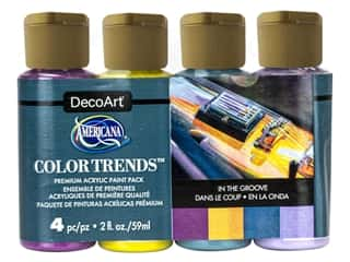 craft & hobbies: DecoArt Americana Acrylic Paint In The Groove 4 pc