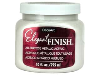 craft & hobbies: DecoArt Elegant Finish Metallic Paint 10 oz. White Pearl
