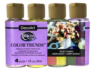 craft & hobbies: DecoArt Americana Acrylic Paint Secret Garden 4 pc