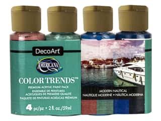 DecoArt Americana Acrylic Paint Modern Nautical 4 pc