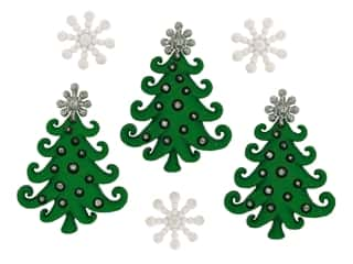 craft & hobbies: Jesse James Dress It Up Embellishments Christmas Collection A Whimsical Christmas