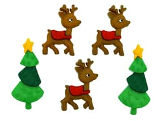 scrapbooking & paper crafts: Jesse James Dress It Up Embellishments Christmas Collection Reindeer Games