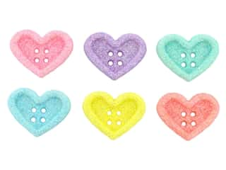 novelties: Jesse James Embellishments Candy Hearts