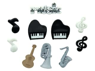 craft & hobbies: Jesse James Dress It Up Embellishments Music