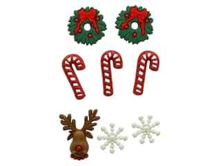 scrapbooking & paper crafts: Jesse James Dress It Up Embellishments Christmas Collection Deck the Halls