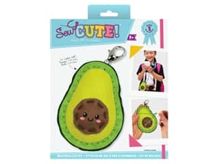 projects & kits: Colorbok Sew Cute! Backpack Clip Kit - Avocado