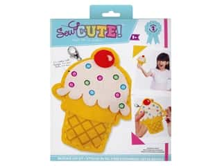 projects & kits: Colorbok Sew Cute! Backpack Clip Kit - Ice Cream