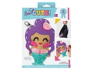 projects & kits: Colorbok Sew Cute! Backpack Clip Kit - Mermaid