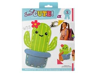 projects & kits: Colorbok Sew Cute! Backpack Clip Kit - Cactus